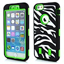 3in1 Zebra Grain Robots Pattern Silicone Cover for iPhone 6 (Assorted Colors)