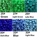 Approx 500PCS/Bag 5MM Fuse Beads Hama Beads DIY Jigsaw EVA Material Safty for Kids(Assorted 6 Color,B25-B33)