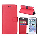 Litche Lines Full Body Leather Case with Card Slot for iPhone 6 Plus (Assorted Colors)