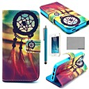 COCO FUN Chinese knot Pattern PU Leather Full Body Case with Film, Stand and Stylus for iPhone 5/5S