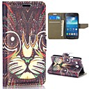 Tribal Style Cat Pattern Magnetic Flip Stand PCPU Leather Case for Samsung Galaxy Core Plus G3502U