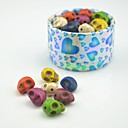 Toonykelly Old Looking Multicolor Skull DIY Turquoise Beads 30Pc/Bag