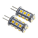 G4 2.5W 18x5050SMD 200LM 3000K Warm White Light LED Corn Bulb (12V 2PCS)