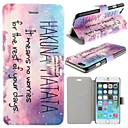 Hakuna Matata Pattern PU Leather Full Body Cover with Card Slot for iPhone 6