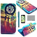 COCO FUN Chinese knot Pattern PU Leather Full Body Case with Screen Protector,Stylus and Stand for iPhone 5C