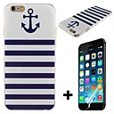 Boat Anchor Pattern Hard with Screen Protector Cover for iPhone 6 Plus