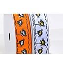 3/8 Inch Halloween Series Cartoon Spider Pattern Rib Ribbon Printing Ribbon-5 Yard Each Bag