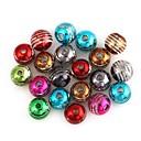 Fashionable Unisex Striped Pattern Spherical Plastic Beads DIY Accessories(20Pcs)(Color Random)