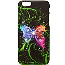 Large Black Butterfly Pattern Hard Plastic Back Cover Case for ipone 6