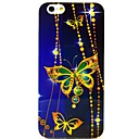 Three Golden Butterfly Pattern TPU Soft Cover for iPhone 6
