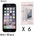 Anti-Fingerprint Highest Quality Premium High Definition Screen Protector for iPhone 6 (6 pcs)