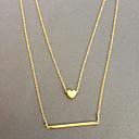 European Simple Golden Strip Tiny Pendant Necklace(1 Pc)