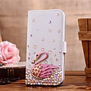 Diamond Swan PU Leather Full Body Case with Stand and Card Slot for SAMSUNG GALAXY S4 I9500(Assorted Colors)
