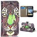 Tribal Style Tiger Pattern Wallet Style Magnetic Flip Stand PCPU Leather Case for HuaWei Ascend Y330