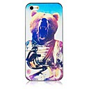 Big Bear Pattern Black Frame Back Case for iPhone 5/5S