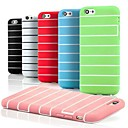 Silicone Transverse Colorful Prison Garb Pattern Soft Cover for iPhone 6(Assorted Color)