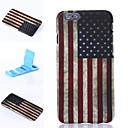 America Pattern Plastic Hard Cover for iPhone 6