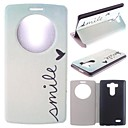 Smile Pattern PU Leather Full Body Case with Stand for LG G3