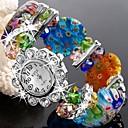 Flower-Shaped Woven Bracelet Fashion Watch/Wrist Watch Mixed Color (1Pc)