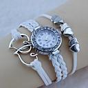 Have Mutual Affinity Diamond Woven Bracelet Watch (White)