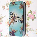 Special Grains Be Free Pattern PU Full Body Case with Card Slot for iPhone 5/5S