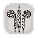 Snakeskin Pattern  Electroplating In-ear Headphones with the Function of Answering