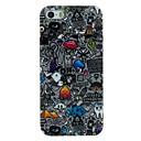 The Scrap Scrawl Pattern TPU Material Soft Back Cover Case for iPhone 5/5S