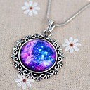 Womens Galaxy Star Time Gemstone Couple Necklace
