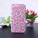 Pink Leopard Pattern Litchi Texture Plastic Hard Case for iPhone 6