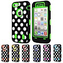 3-in-1 Design Dot Pattern Hard Case with Silicone Inside Cover for iPhone5C (Assorted Colors)