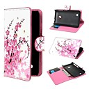 Mini Flower Pattern PU Leather Cover with Magnetic Snap and Card Slot for Nokia Lumia 530