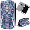 Cartoon Elephant Pattern Full Body Case with Stand PU Leather Case for Samsung Galaxy S3 I9300