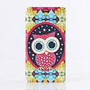 Lovely Owl Pattern PU Leather Case with Stand and Card Slot for Sony M2 (S50h)