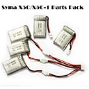 Syma X5C/X5C-1 Explorers Parts X5C-11 3.7V 500mAh Update 3.7V 680mAh Lipo Battery 3 in 1 Cable line x 5pcs