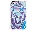Cool the Lion Pattern Black Frame Back Case for iPhone 4/4S