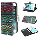 Colorful Blog Design Wallet PU Leather Flip Cover Case with Stand and Card Slot for iPhone 6 Plus