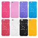 Inscribed Rose Pattern Back Case for iPhone 6 (Assorted Color)