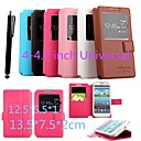 KARZEA™ M 13.57.52cm  Universal S View Window Flip Magnetic PU Leather Case with Stand and Stylus for 4-4.7inch