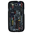 Words Scrawl Pattern PC Hard Back Cover Case for Samsung S3 I9300