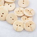 Tree Pattern Scrapbook Scraft Sewing DIY Wooden Buttons(10 PCS)