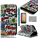 COCO FUN Boom Graffiti Pattern PU Leather Full Body Case with Screen Protector, Stylus and Stand for Motorala Moto G