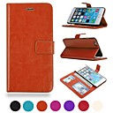Premium PU Leather Wallet Case with Stand and Card Slots for iPhone 6 Plus (Assorted Colors)
