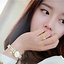 Ms Beautiful Fashion Diamond Gold-plated Ring