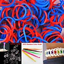 600PCS RedBlue 2-Segment DIY Twistz Silicone Rubber Bands for Rainbow Loom Bracelets with HookS-clips