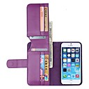 NEW Color PU Leather Wallet with Stand Full Body Cover for iPhone 6 Plus(Assorted Colors)