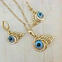18K Gold Plated  Evil Eye Jewelry Set