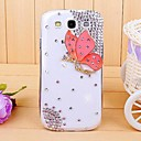Diamond Butterfly Back Cover Case for Samsung Galaxy S3 I9300