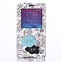 Okay Pattern Open the Window Leather Cover with Stand for Samsung Galaxy Note 4