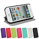 Solid Color Ultrathin PU Leather Full Body Cover with Stand for iPhone 5/5S (Assorted Color)