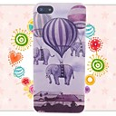 Flying Elephants Pattern Embossment Back Case for iPhone 5/5S